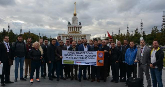 DTO heyeti KOSGEB desteğiyle Moskova'daki uluslararası fuarlara gitti