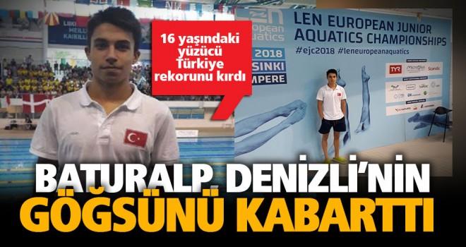 Yüzücü Baturalp'ten rekor üstüne rekor
