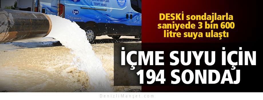 İçme suyu için 194 sondaj kuyusu açıldı