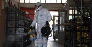 Toptancı Hali'nde koronavirüs önlemleri