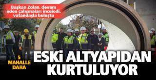 Büyükşehir alt yapı yatırımlarına devam ediyor