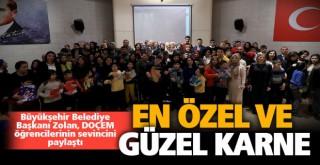Başkan Osman Zolan, özel çocukların karne sevincini paylaştı
