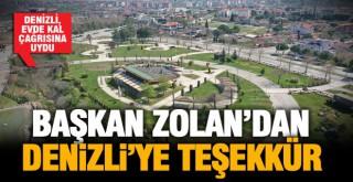 Başkan Osman Zolan teşekkür etti